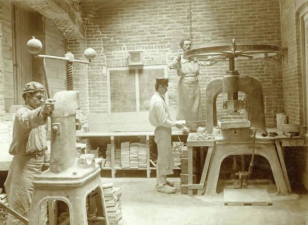 Tile Drawing - Tile Press Porcelain Factory Rozenburg, Porseleinfabriek by Artokoloro