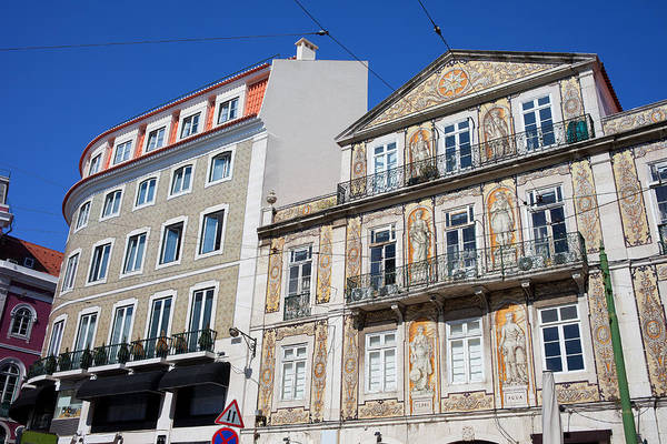 Tenement Photograph - Tiled Building In Chiado District Of Lisbon by Artur Bogacki
