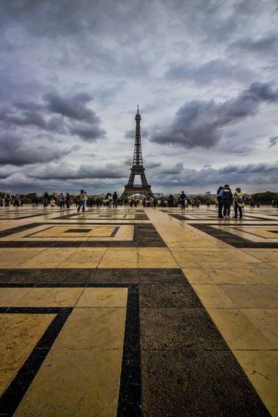 Photograph - Tiles Point To The Eiffel Tower by Sven Brogren