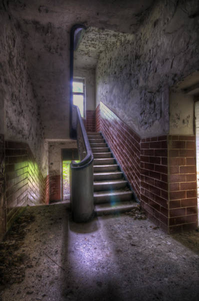 Dilapidation Wall Art - Digital Art - Tiles Stairs And A Window by Nathan Wright