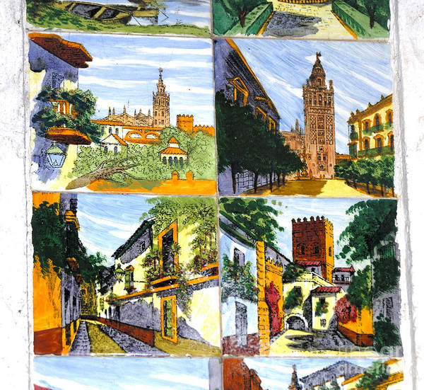 Photograph - Tiles With Views Of Seville by Brenda Kean