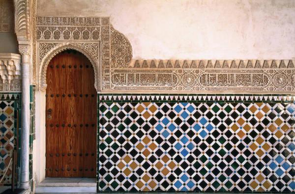 Patio Photograph - Tilework In Patio De Los Arrayanes In by John Elk