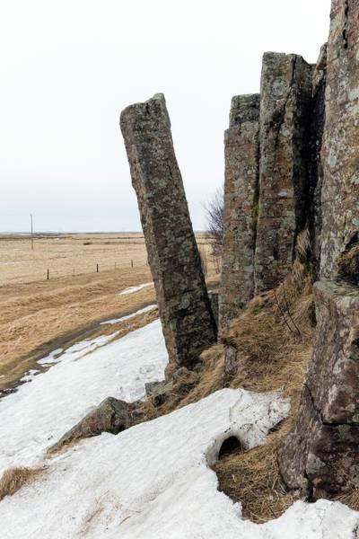 Basalt Photograph - Tilted Basalt Column by Dr Juerg Alean