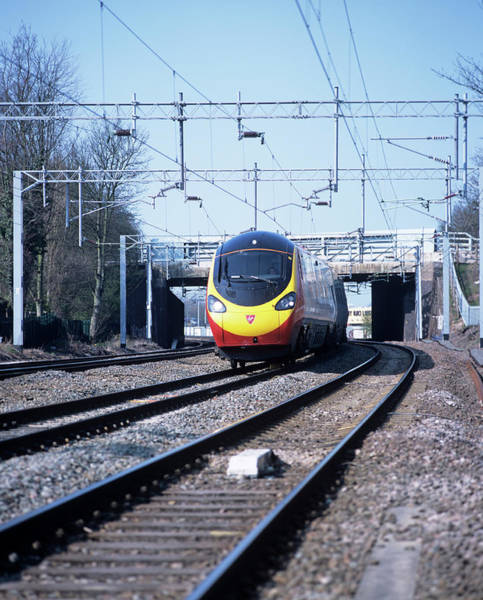 Warwickshire Photograph - Tilting Train by Martin Bond/science Photo Library