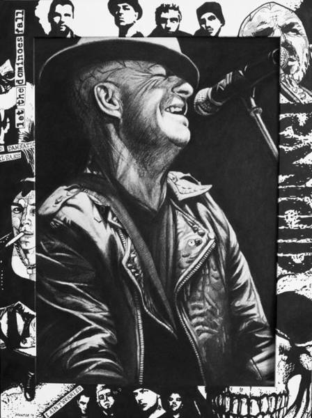 Punk Drawing - Tim Armstrong by Steve Hunter
