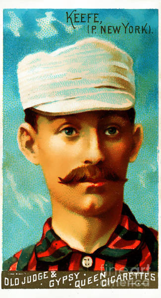 Photograph - Tim Keefe New York Metropolitans Baseball Card 0128 by Wingsdomain Art and Photography