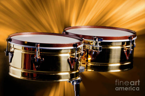 Photograph - Timbale Drums For Latin Music Photograph In Color 3325.02 by M K Miller