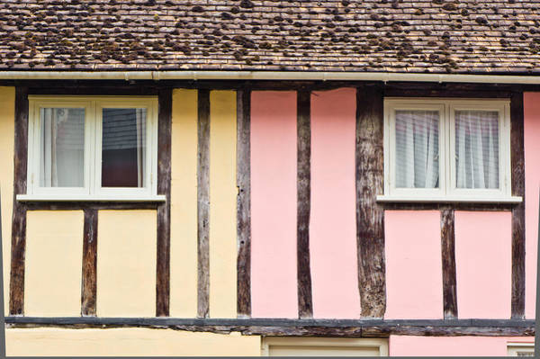 English Cottage Photograph - Timber Houses by Tom Gowanlock