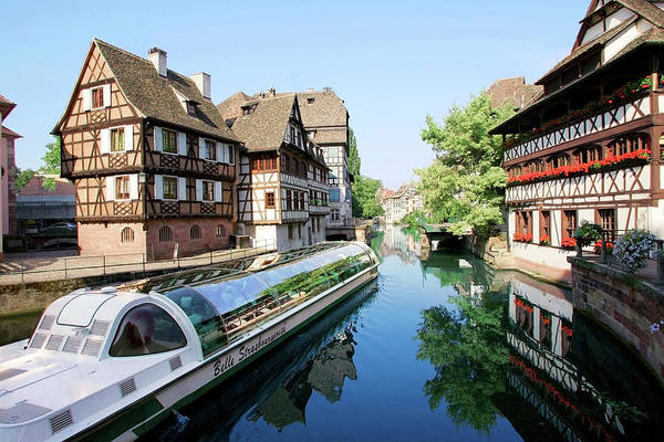 Alsace Wall Art - Photograph - Timbered Buildings, La Petite France by Miva Stock