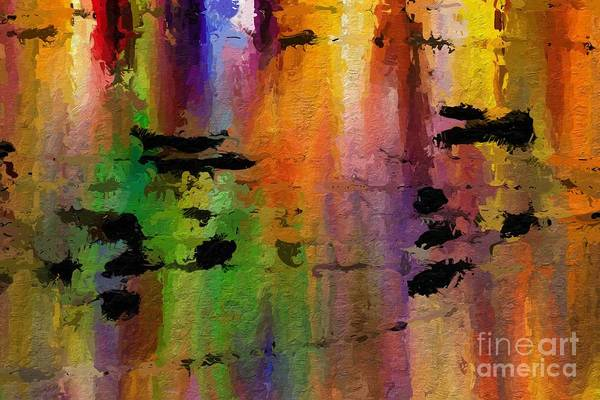 Art Print featuring the digital art Timbral Downpour by Lon Chaffin