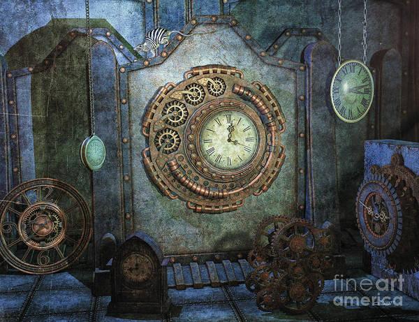 Digital Art - Time Chaos by Jutta Maria Pusl