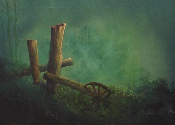 Fencepost Painting - Time Conquers #  020 by Frederick  Skidmore