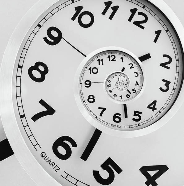 Numbers Photograph - Time by Florin Bandas