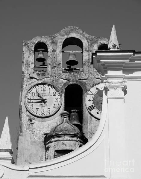 Isle Of Capri Wall Art - Photograph - Time For The Bells Bw by Mel Steinhauer