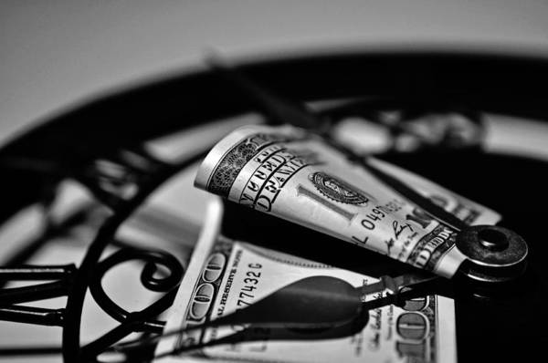Legal Tender Photograph - Time Is Money by Devin OBrien
