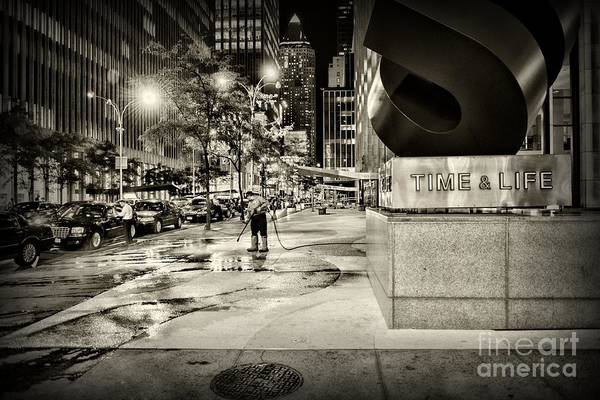 Wall Art - Photograph - Time Life Building In Black And White by Paul Ward