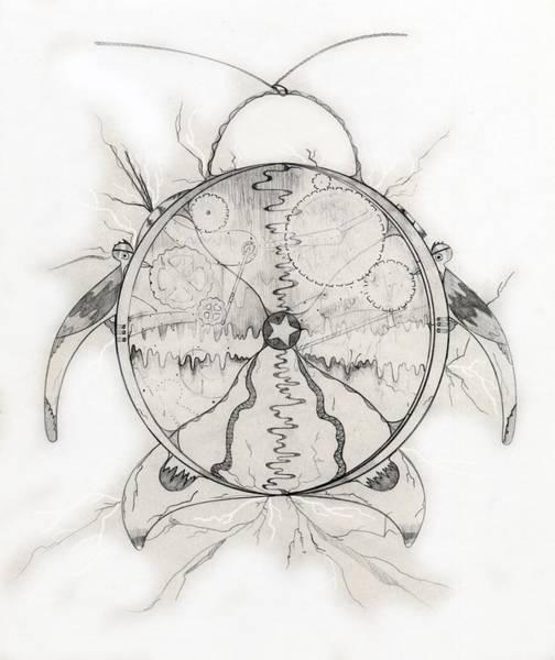 Cuckoo Drawing - Time Machine by Jason Girard