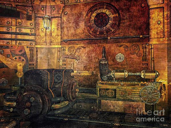 Digital Art - Time Machine by Jutta Maria Pusl