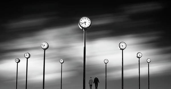 Clock Wall Art - Photograph - Time by Maurits De Groen