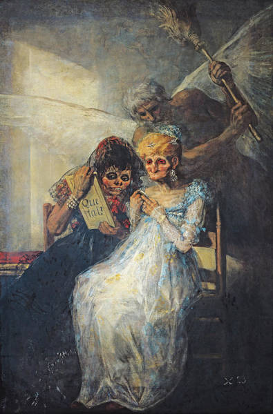 Ugly Photograph - Time Of The Old Women, 1820 Oil On Canvas by Francisco Jose de Goya y Lucientes
