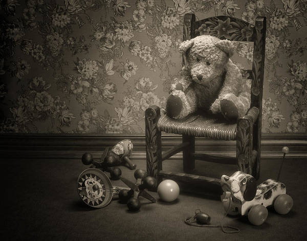 Pull Wall Art - Photograph - Time Out - A Teddy Bear Still Life by Tom Mc Nemar