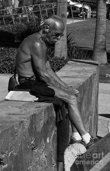 Roller Blades Photograph - Old Timer In Venice - California by Doc Braham