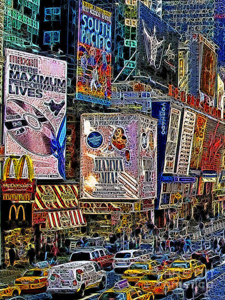 Photograph - Time Square New York 20130430v3 by Wingsdomain Art and Photography