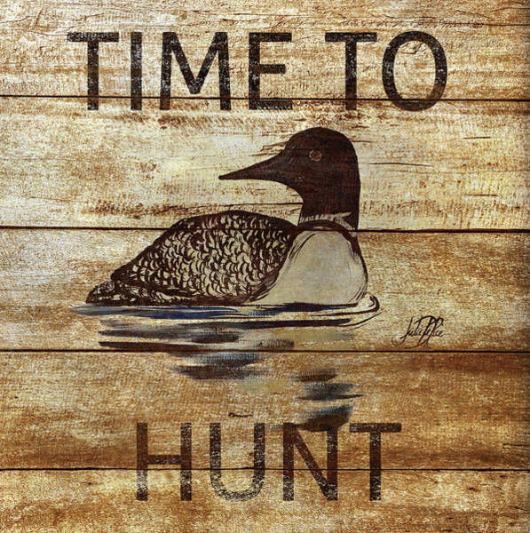 Hunt Digital Art - Time To Hunt Square II by Julie Derice