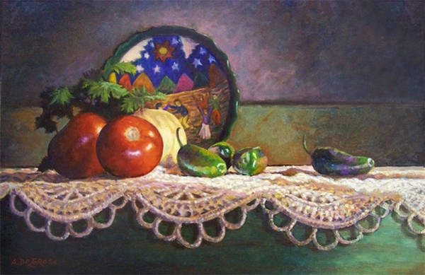 Doily Painting - Time To Make Salsa by Abel DeLaRosa