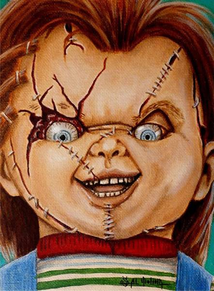 Chucky Wall Art - Painting - Time To Play by Al  Molina
