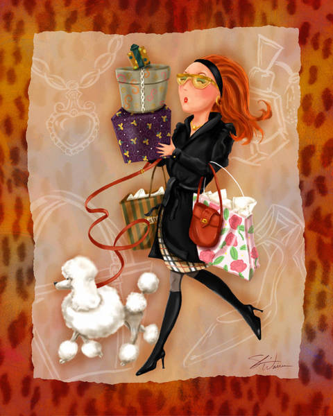 Pretty Mixed Media - Time To Shop 4 by Shari Warren