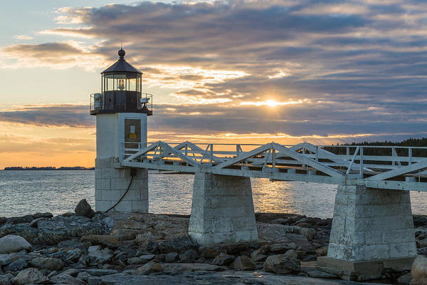 Marshall Point Lighthouse Photograph - Time To Work by Kristopher Schoenleber