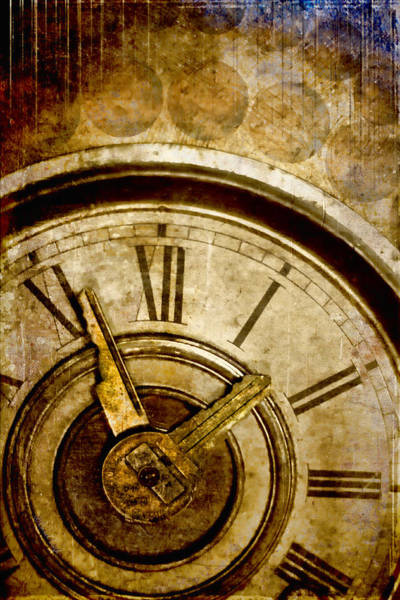 Clock Wall Art - Photograph - Time Travel by Carol Leigh