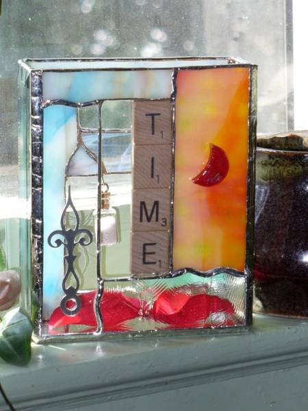 Glass Art - Time Windowsill Box by Karin Thue