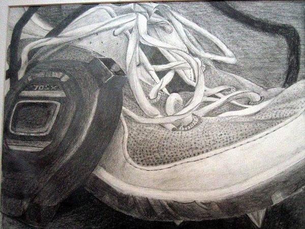 Wall Art - Drawing - Timed Run by Lauren  Pecor