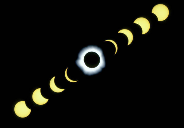 Time Lapse Photograph - Timelapse Image Of A Total Solar Eclipse by Dr Fred Espenak