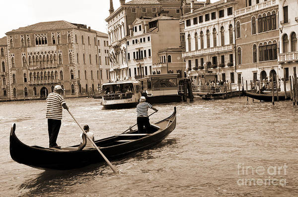 Lion Of St Mark Photograph - Timeless Gondola Ride by Brenda Kean