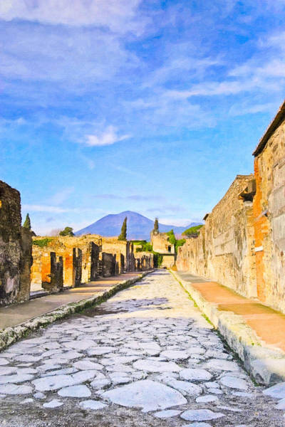 Photograph - Timeless Italy - Views From Pompeii by Mark E Tisdale
