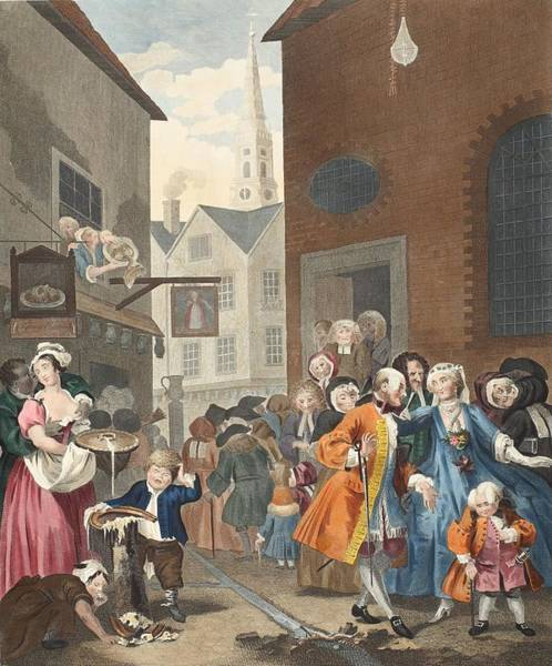 Middle Drawing - Times Of The Day Noon, Illustration by William Hogarth