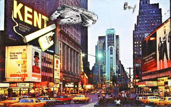 Photograph - Times Square 1972 Reloaded by Helge