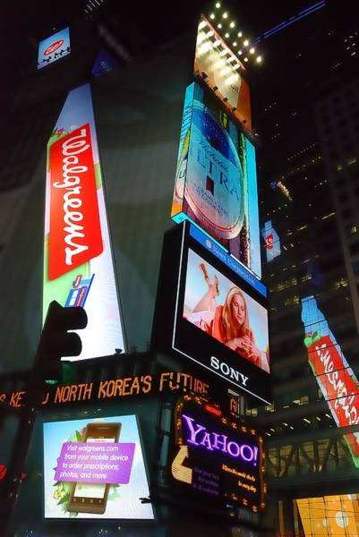 Ad Photograph - Times Square Ads by Jim Hughes