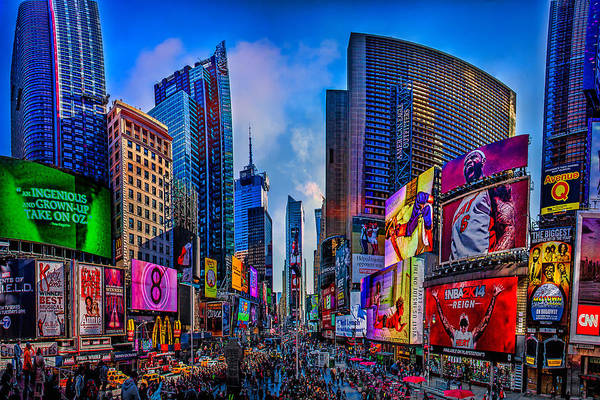 Wall Art - Photograph - Times Square by Chris Lord