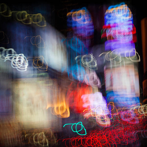 Time Exposure Wall Art - Photograph - Times Square by Dave Bowman