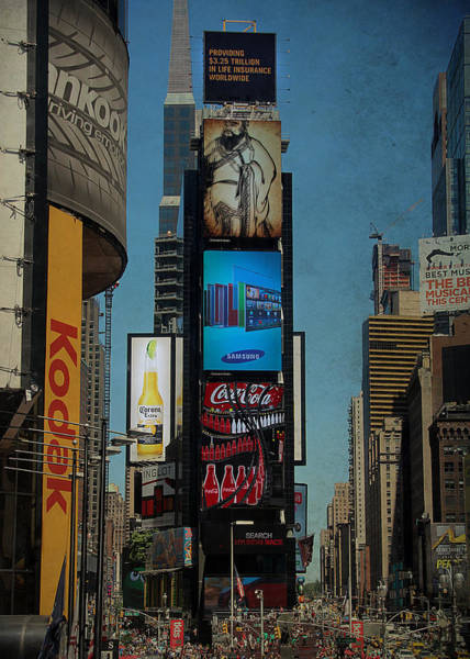 Photograph - Times Square Grunge by Jemmy Archer