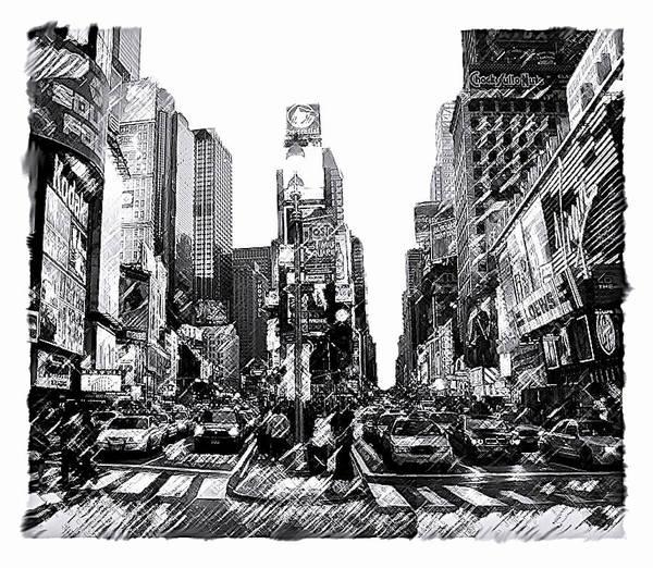 Times Square   New York City Art Print