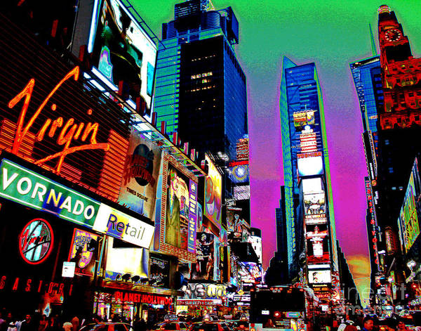 Photograph - Times Square Sunset by Larry Oskin