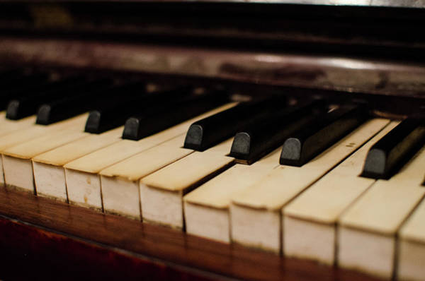 Piano Photograph - Timeworn Piano Keys by Megan Ahrens