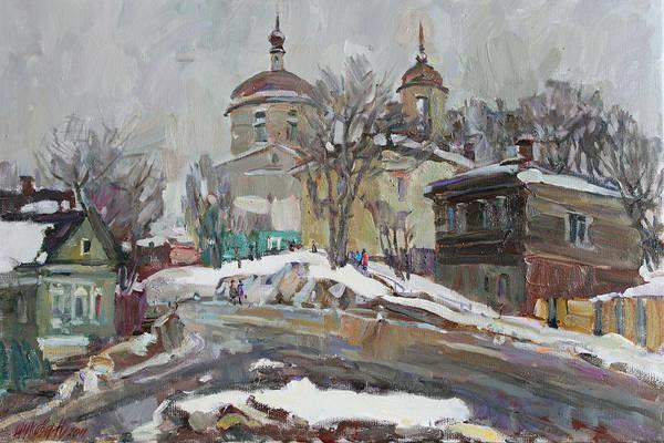 Wall Art - Painting - Timid Spring by Juliya Zhukova