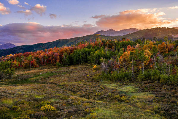 Range Photograph - Timp Fall Glow by Chad Dutson