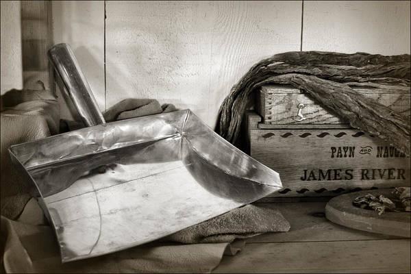 Tin Box Photograph - Tin Dustpan And Tobacco by Nikolyn McDonald